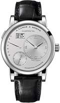 A. Lange & Söhne A. Lange and Sohne Lange 1 320.025 Platinum / Leather with Silver Dial Automatic 39.5mm Mens Watch