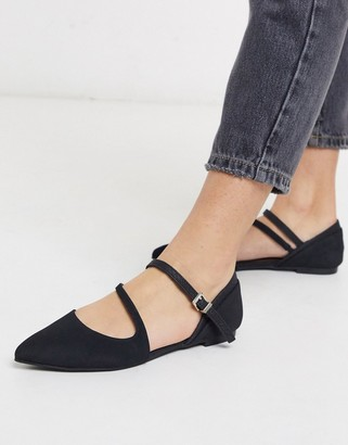 Call it SPRING feross pointed ballets in black