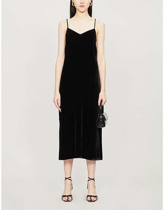 Reformation Moore sleeveless velvet dress