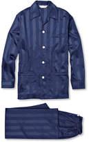 Derek Rose Lingfield Striped Cotton Pyjama Set - Blue