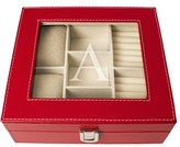 Cathy's Concepts Monogram Jewelry Box - Red