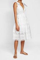 Self-Portrait Tie Shoulder Dress with Cotton
