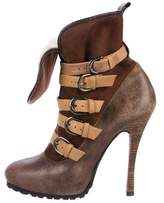 Barbara Bui Leather Multistrap Ankle Boots