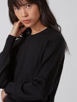 Frank and Oak Machine-Washable Merino Wool Raglan Sweater in True Black