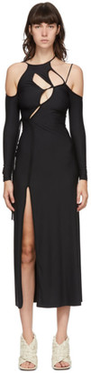 Ottolinger Black Strappy Long Sleeve Dress