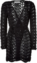 Clare Tough Black Belted Knitted Cardigan