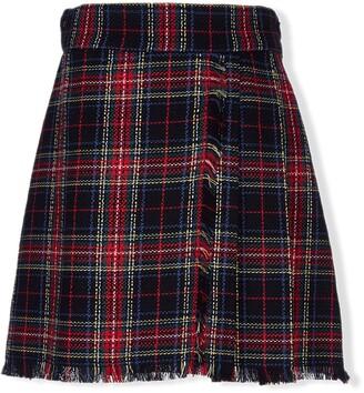 Lapin House Tartan Print Skirt
