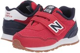 New Balance 515 Hook Loop (Infant/Toddler) (Team Red/Team Navy) Boys Shoes