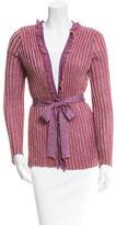 M Missoni Metallic Knit Cardigan