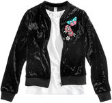 Beautees 2-Pc. Tank Top & Embroidered Jacket, Big Girls (7-16)