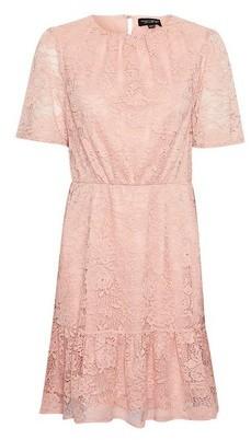 Dorothy Perkins Womens Blush Lace Smock Dress