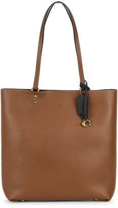 Coach Plaza Brown Leather Tote