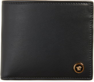 Versace Icon Medusa Head Leather Bifold Wallet