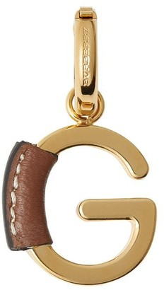 Burberry leather-wrapped G charm