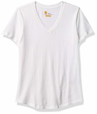 Carhartt Women's Relaxed Fit Midweight Short-Sleeve V-Neck T-Shirt