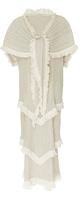 Loewe Shawl Pleated Tiered Dress