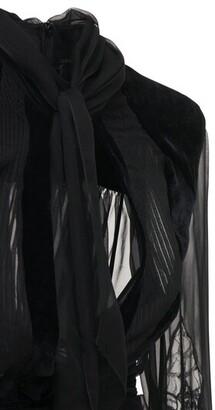 ZUHAIR MURAD Fluid Velvet Lace Blouse Shirt