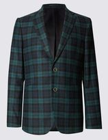 Marks And Spencer Tailored Fit Single Breasted 2 Button Jacket