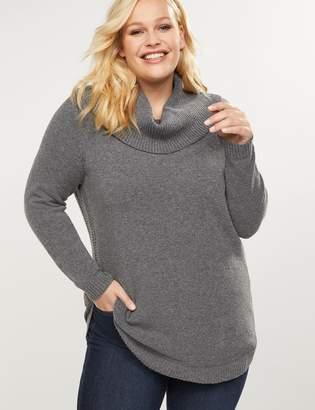 Lane Bryant Cowl-Neck Tunic Sweater