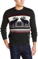 Dockers Moose Motif Crew-Neck Sweater