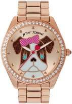 Betsey Johnson Exclusive French Bulldog Analog Bracelet Watch