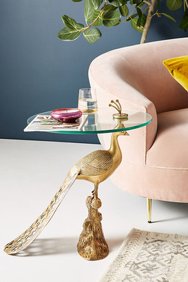 Anthropologie Pavo Side Table By in Gold Size ALL