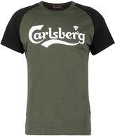 Carlsberg Print Tshirt Verde Militare/nera