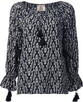 Figue 'Clodie' ikat print tassel blouse
