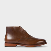 Paul Smith Men's Dark Tan Leather 'Morgan' Desert Boots