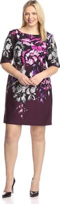 Taylor Dresses Women's Open Back Floral Sheath Dress