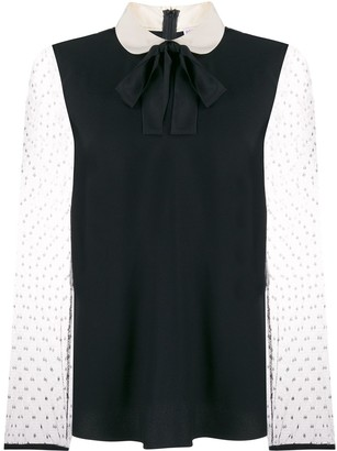 RED Valentino sheer sleeve blouse