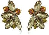 """Sorrelli Green Tapestry"""" Fanned Navette Crystal Post Earring"""