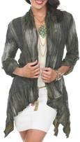 Aris A. Olive Crinkled Jacket