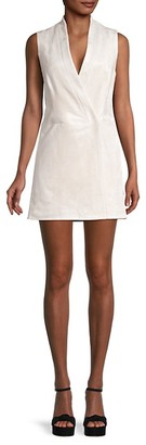 BCBGMAXAZRIA Faux Wrap Sleeveless Dress