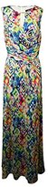 Ellen Tracy Women's Sleeveless Cutout Printed Maxi Dress