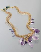 purple 'Royalty' multi strand drop necklace