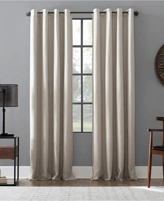"Archaeo Linen Blend 52"" x 95"" Blackout Grommet Top Curtain"