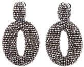 Oscar de la Renta Beaded Frontal Hoop Earrings