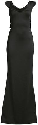 Black Halo Patricia Satin Column Gown