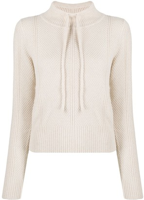 See by Chloe Drawstring-Neck Textured Jumper
