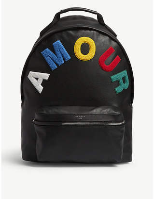 Sandro 'Amour' embroidered leather backpack