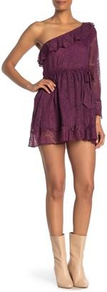 Raga Laney Lace One-Shoulder Mini Dress
