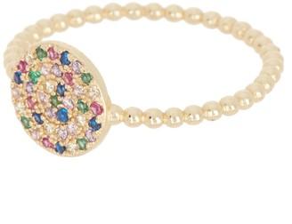 Melinda Maria Nova Multicolor Pave Ring