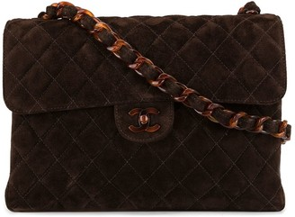 Chanel Pre Owned Quilted CC Plastic Single Chain Shoulder Bag
