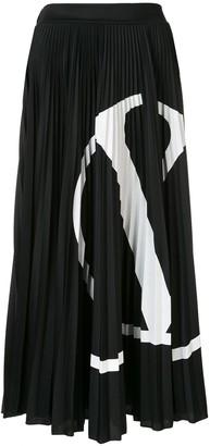 Valentino VLOGO-print pleated skirt