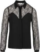 Morgan Crepe And Lace Shirt
