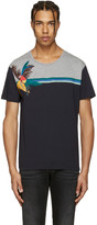 Valentino Navy Parrot and Tree T-shirt