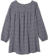 Joe Fresh Kid Girls' Butterfly Print Baby Doll Dress, JF Midnight Blue (Size S)