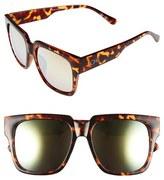 Quay Junior Women's 'On The Prowl' 55Mm Oversize Square Sunglasses - Black/ Silver Mirror