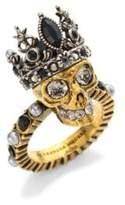 Alexander McQueen Queen Skull Crystal Ring